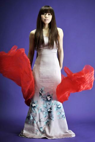 着物ドレス 薄紫 付け下げ [花]