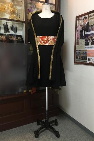 着物ドレス 黒 黒無地 [無地]
