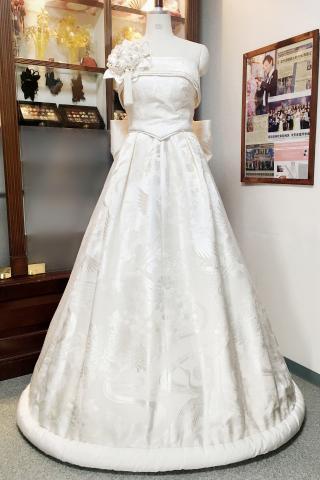 Japanese Kimono Dress white-kimono [Crane]