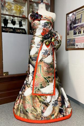 Japanese Kimono Dress Uchikake [Crane]