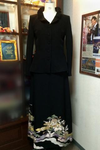 Japanese Tomesode Dress Purple Two piece [Average]