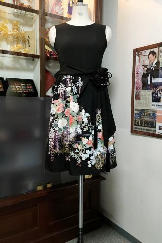 留袖ドレス 水色 ワンピース [花]