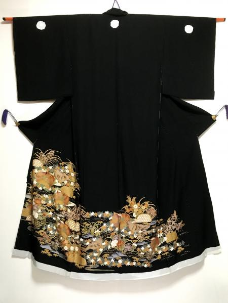 Tomesode Dress Black One piece type [Bird]22