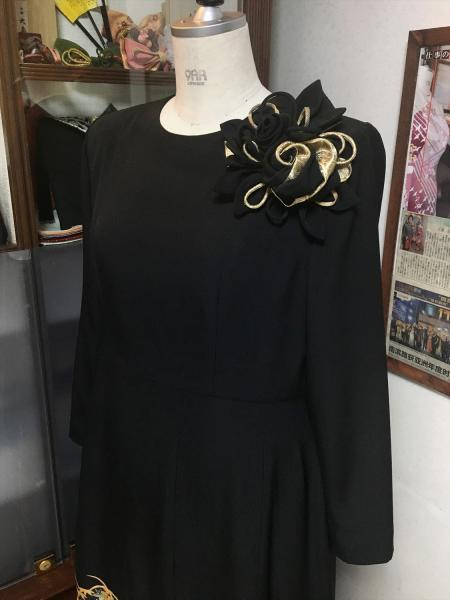 Tomesode Dress Black One piece type [Bird]20