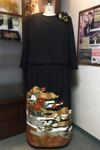 留袖ドレス 黒 [花]