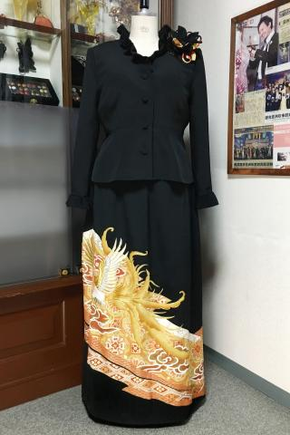 Japanese Tomesode Dress Two piece [Phoenix]